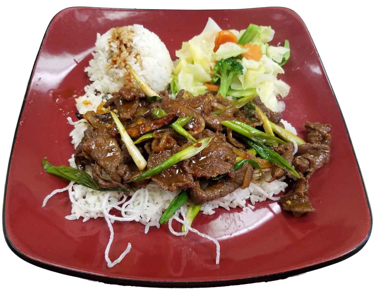 14. Spicy Mongolian Beef – HOT!