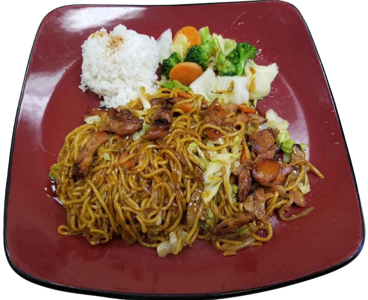 92. Lunch Special – Chicken Veggie Yakisoba