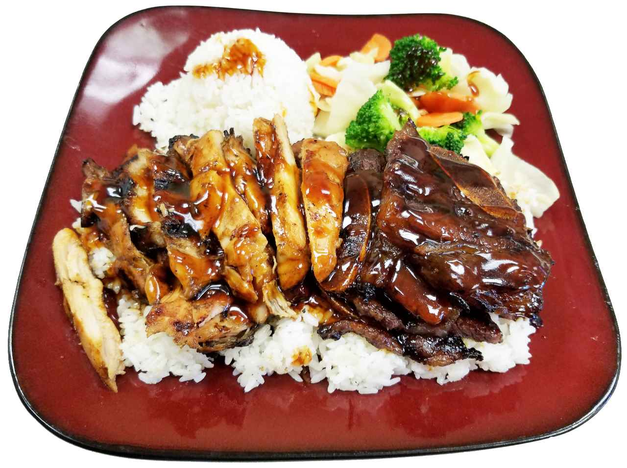 12. Teriyaki Chicken with Beef Short Ribs