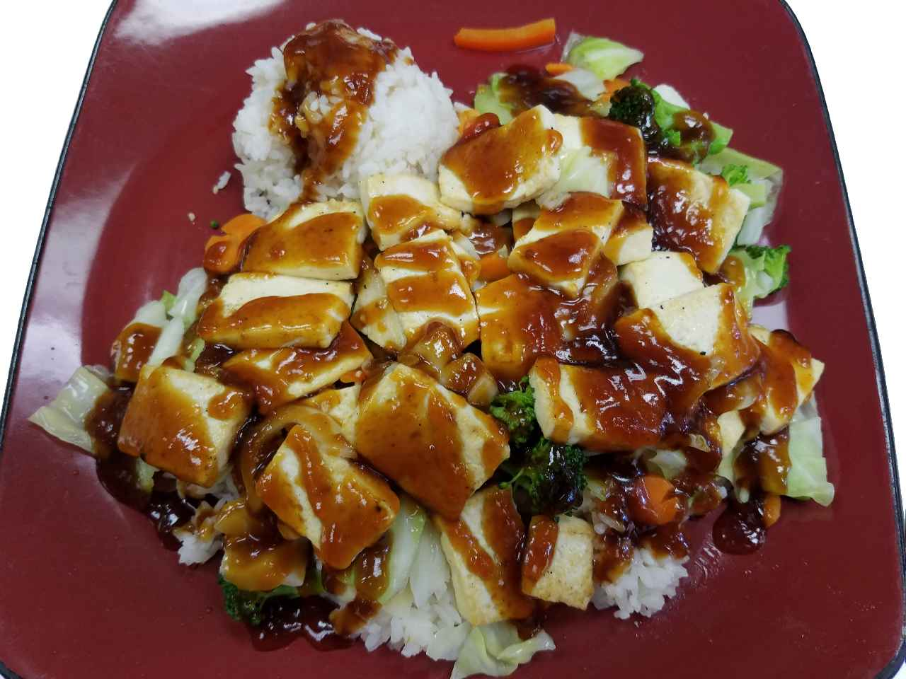 32. Tofu Teriyaki with Steamed Rice